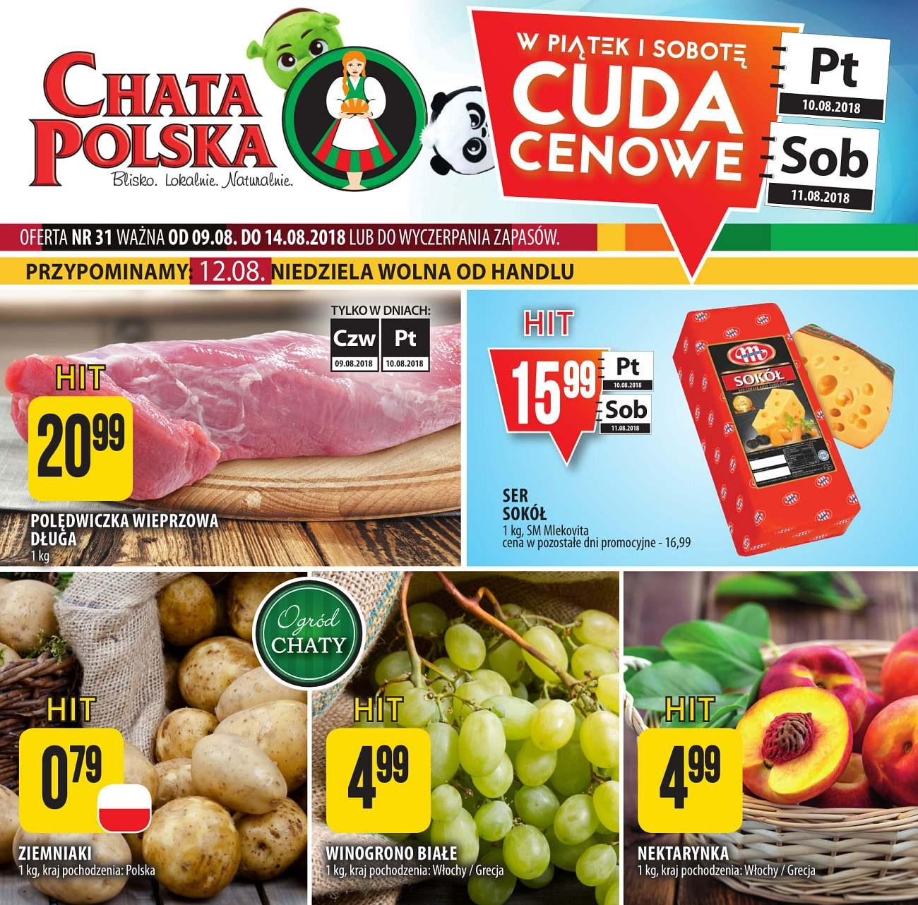 Gazetka promocyjna Chata Polska do 15/08/2018 str.0