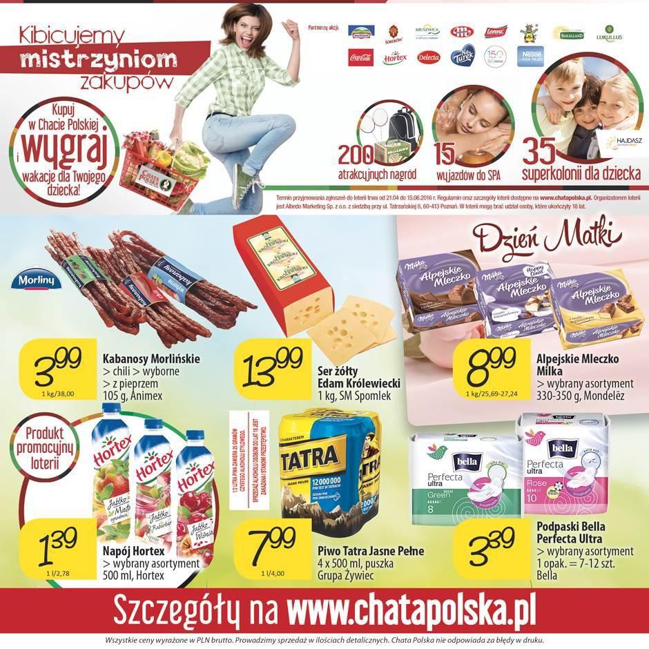 Gazetka promocyjna Chata Polska do 01/06/2016 str.7
