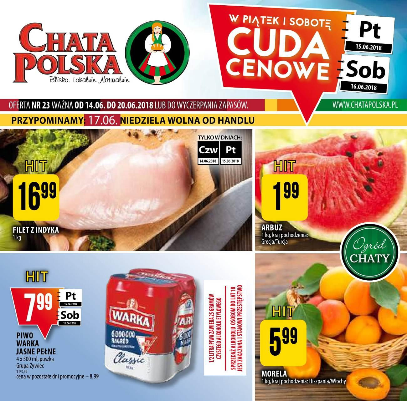 Gazetka promocyjna Chata Polska do 20/06/2018 str.0