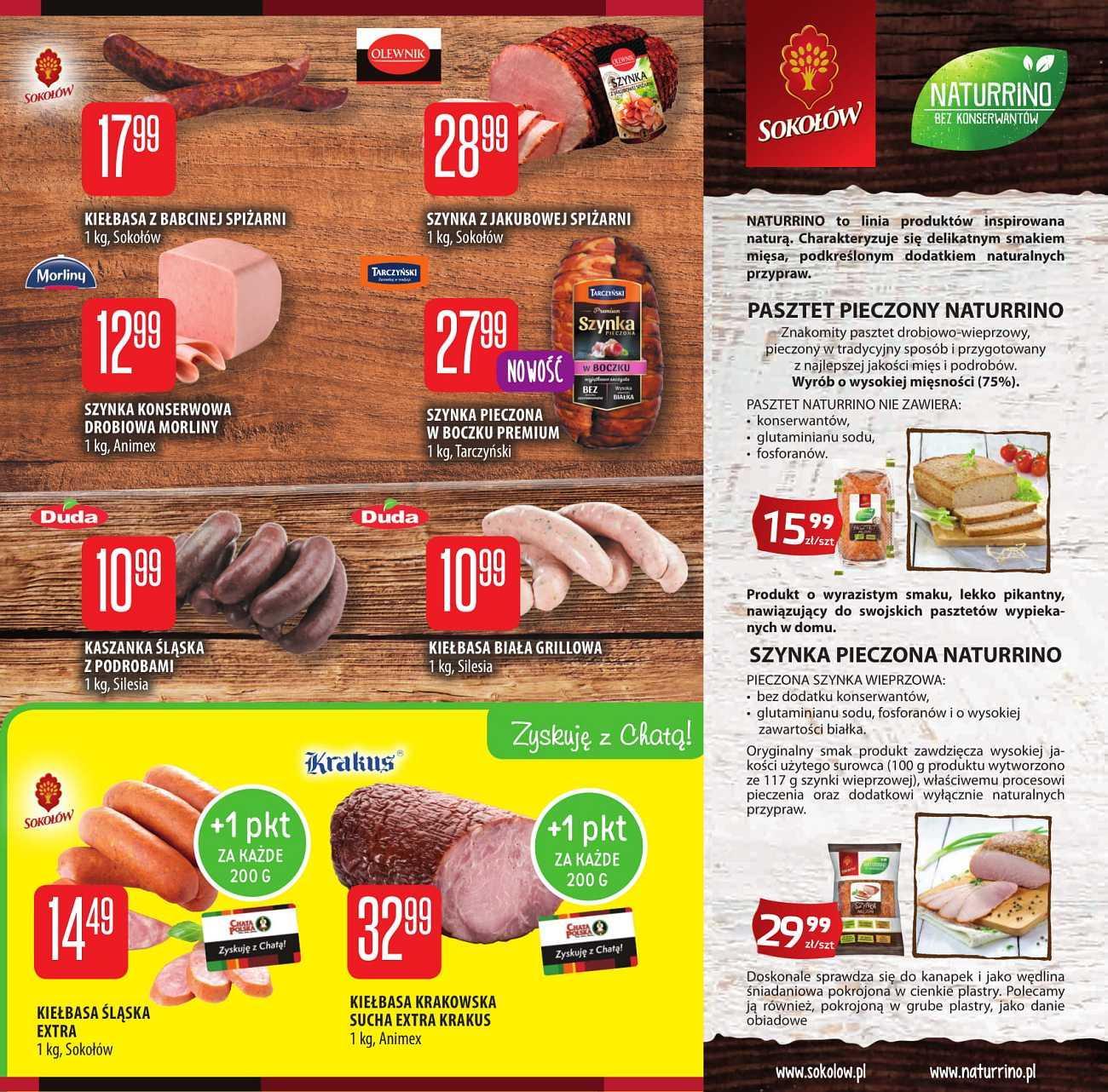 Gazetka promocyjna Chata Polska do 15/08/2018 str.1