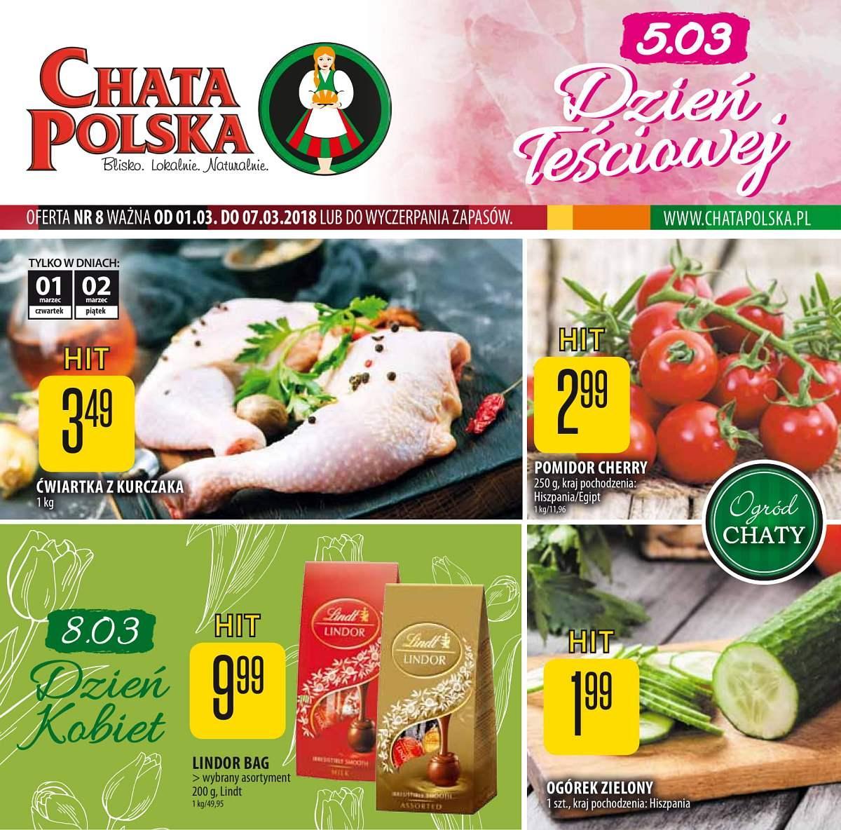 Gazetka promocyjna Chata Polska do 07/03/2018 str.0