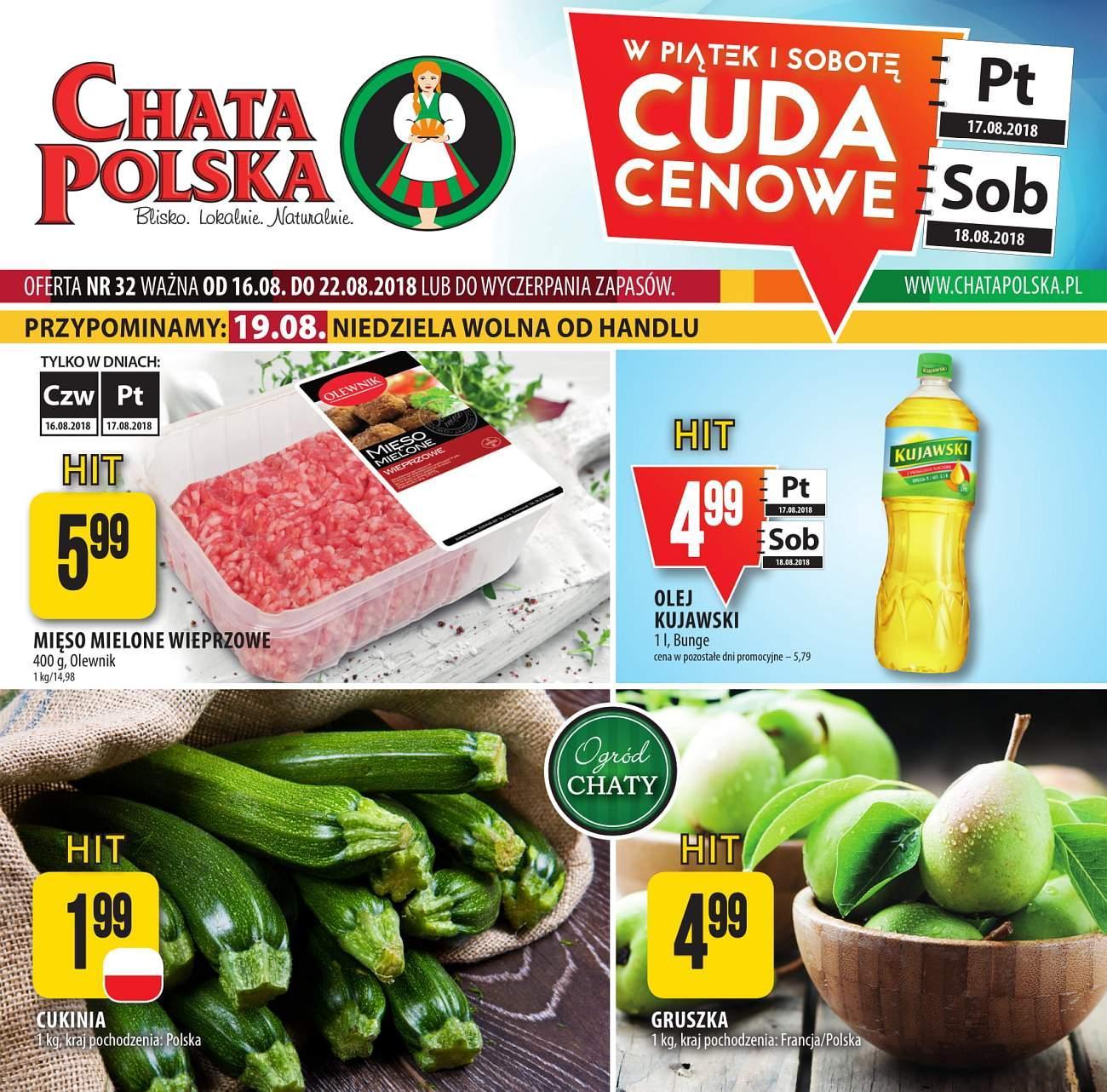 Gazetka promocyjna Chata Polska do 22/08/2018 str.0