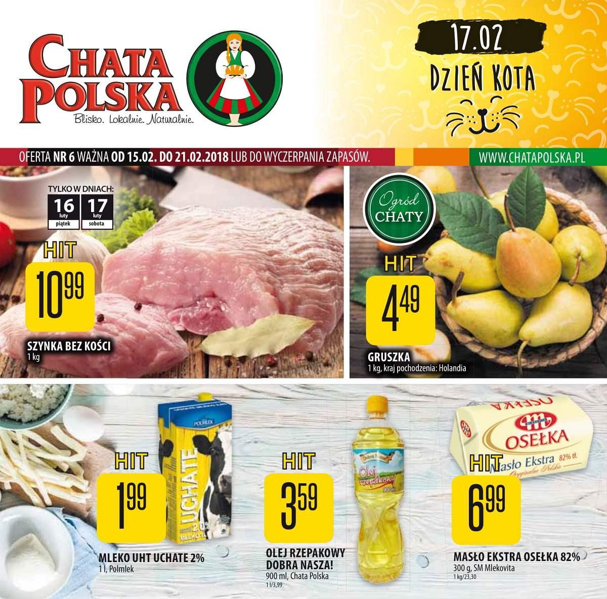 Gazetka promocyjna Chata Polska do 21/02/2018 str.0