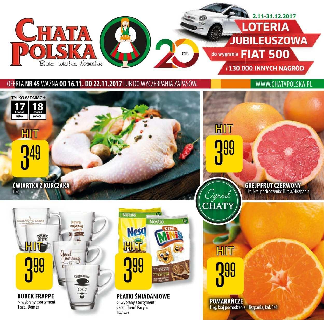Gazetka promocyjna Chata Polska do 22/11/2017 str.0