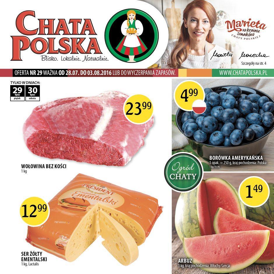 Gazetka promocyjna Chata Polska do 03/08/2016 str.0