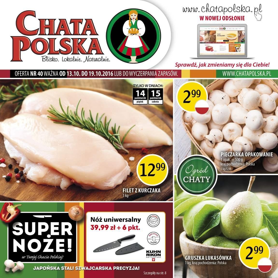 Gazetka promocyjna Chata Polska do 19/10/2016 str.0
