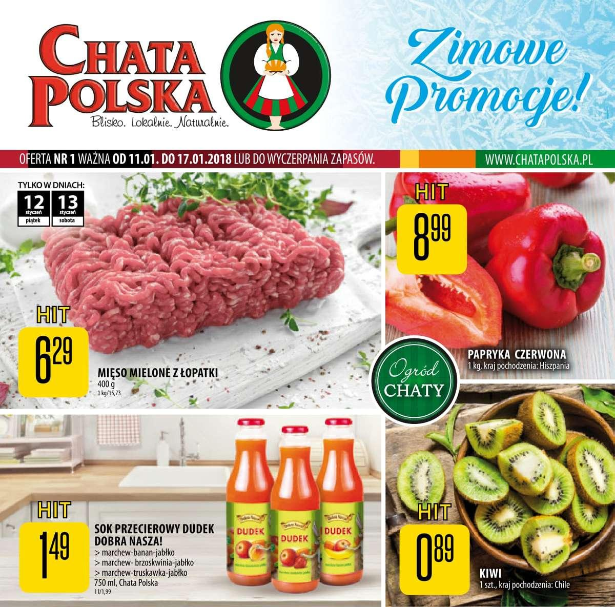 Gazetka promocyjna Chata Polska do 17/01/2018 str.0