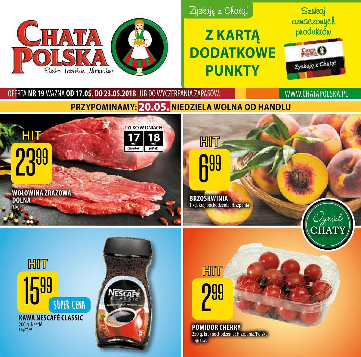 Gazetka promocyjna Chata Polska do 23/05/2018 str.0