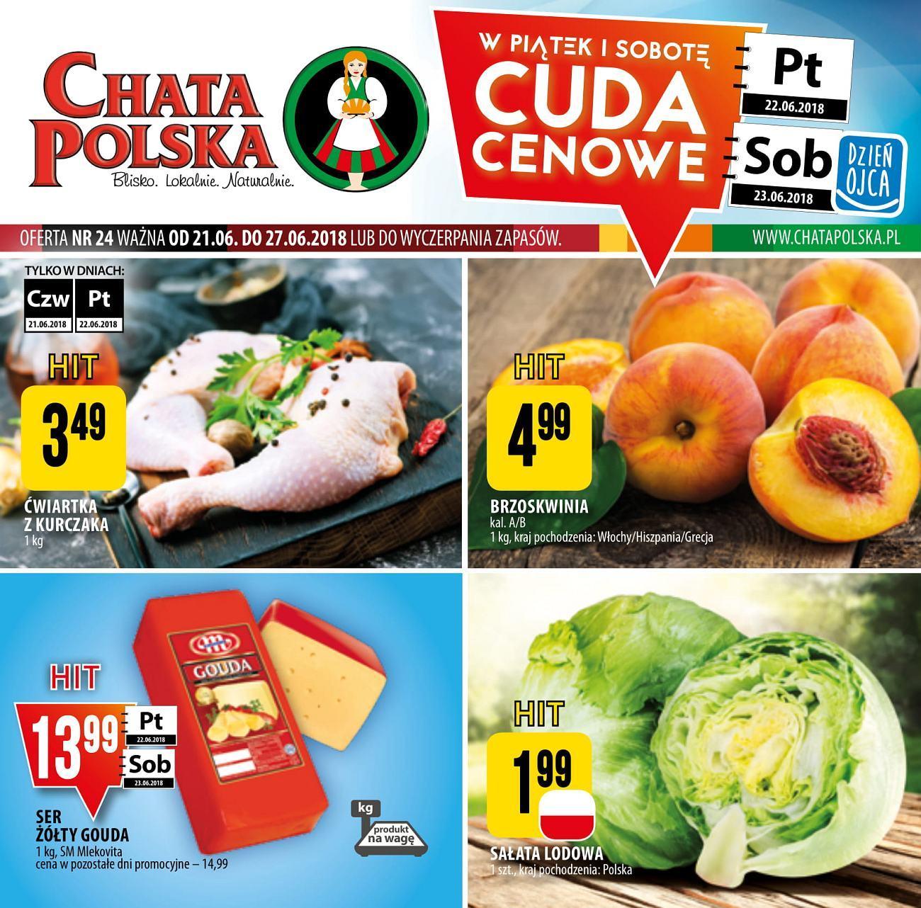 Gazetka promocyjna Chata Polska do 27/06/2018 str.0