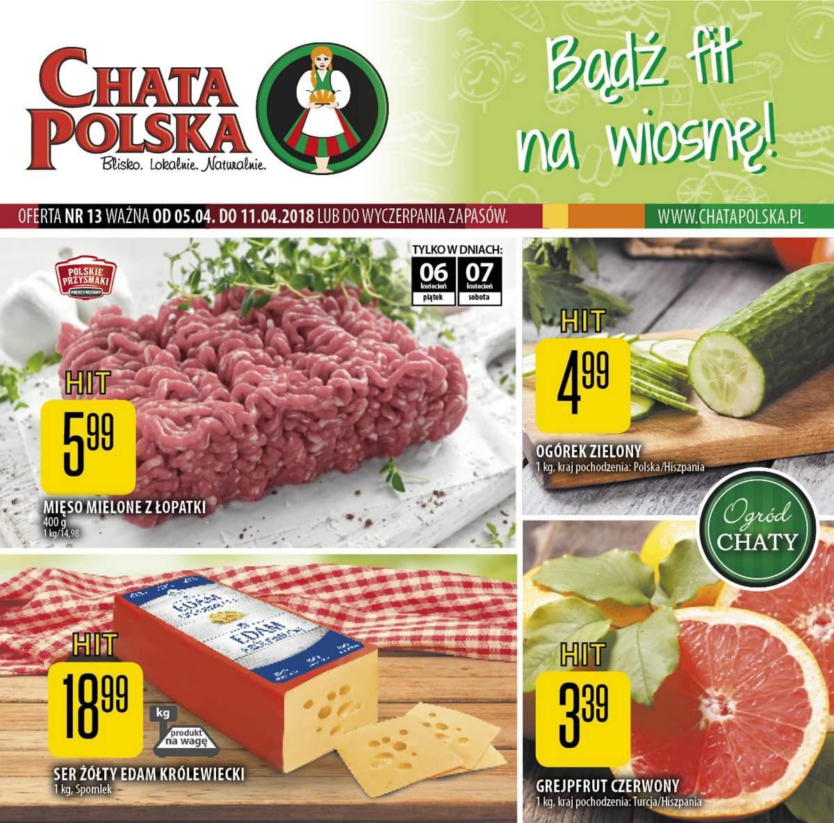 Gazetka promocyjna Chata Polska do 11/04/2018 str.0