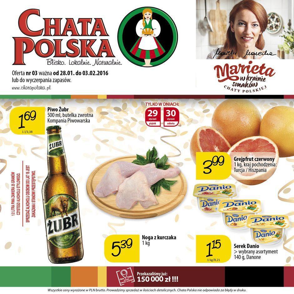 Gazetka promocyjna Chata Polska do 03/02/2016 str.0