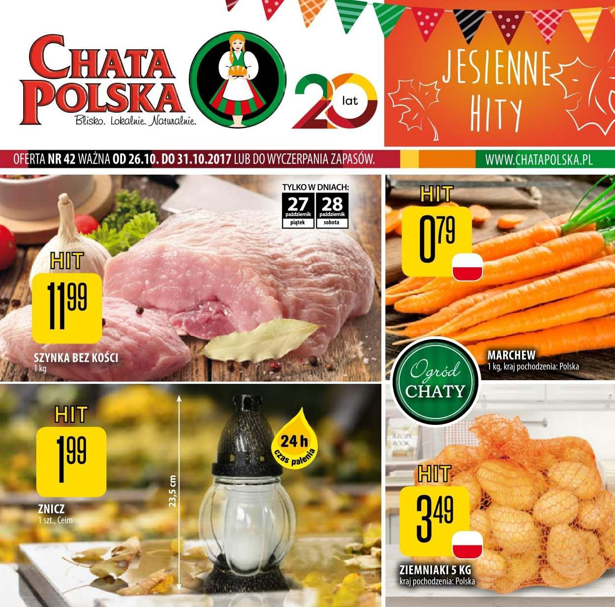Gazetka promocyjna Chata Polska do 31/10/2017 str.0