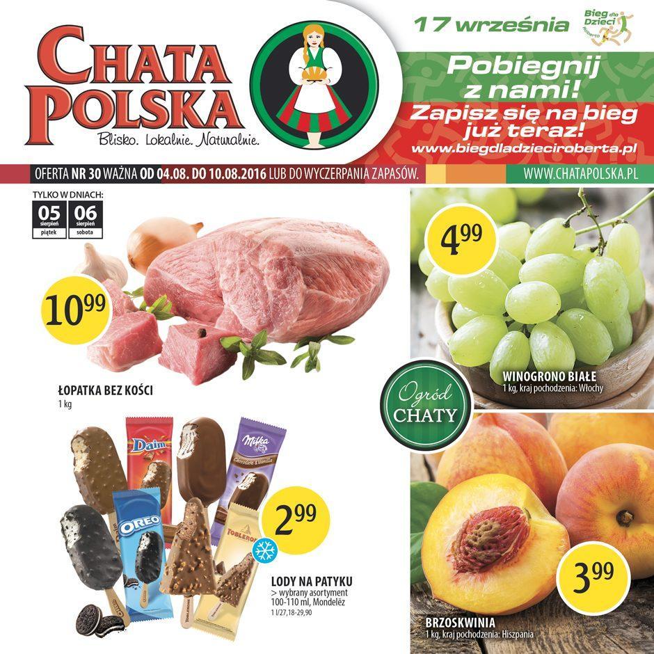 Gazetka promocyjna Chata Polska do 10/08/2016 str.0