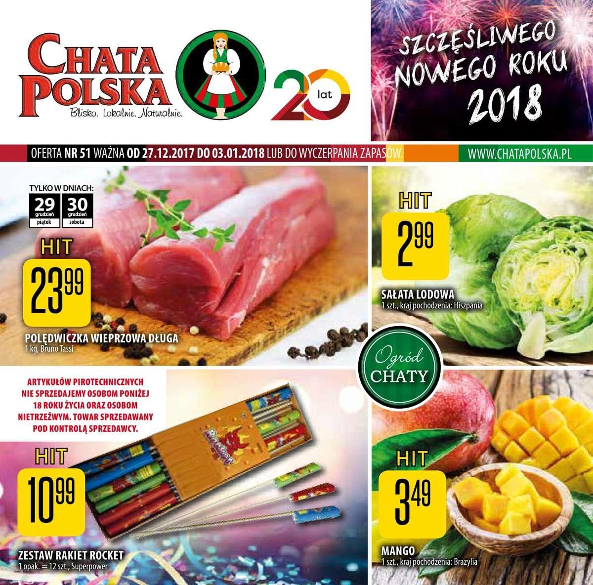 Gazetka promocyjna Chata Polska do 03/01/2018 str.0