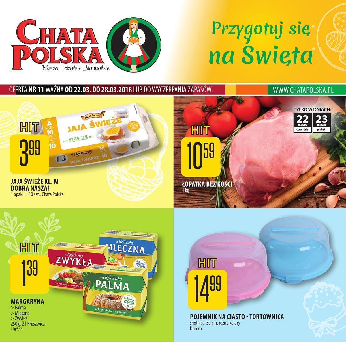Gazetka promocyjna Chata Polska do 28/03/2018 str.0