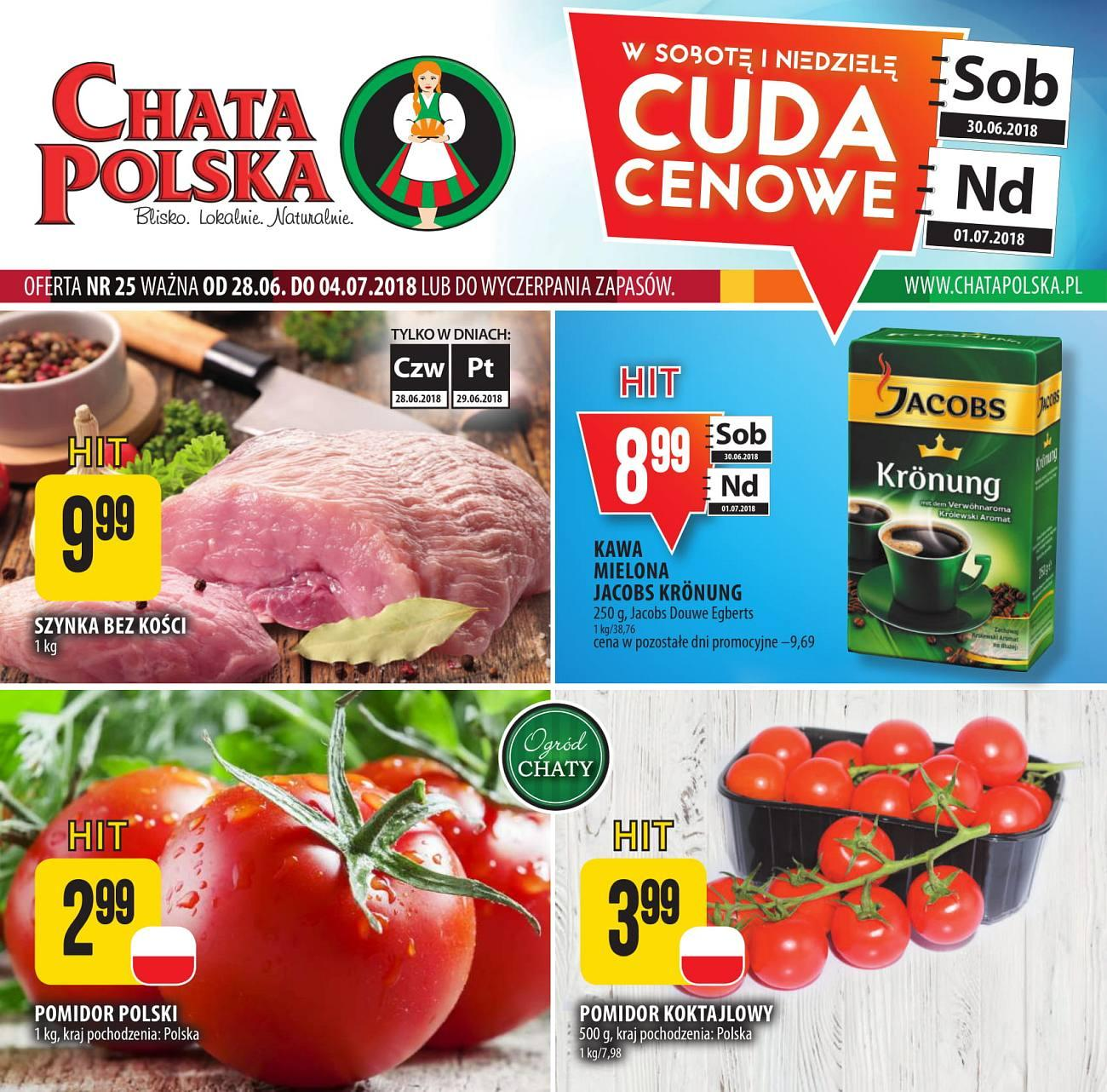 Gazetka promocyjna Chata Polska do 04/07/2018 str.0