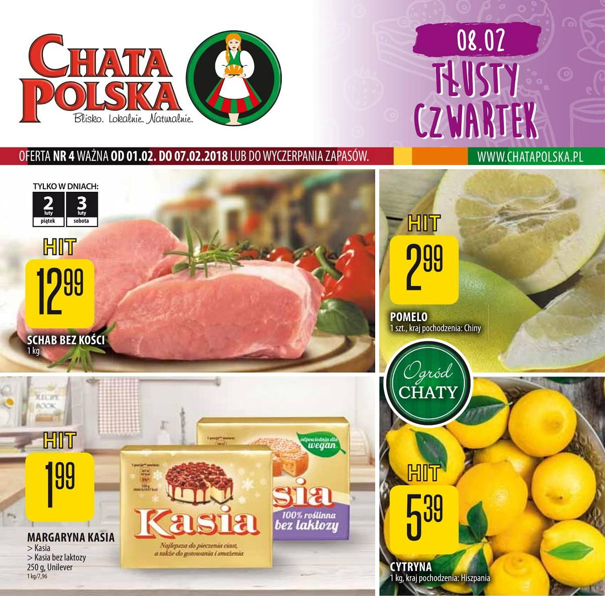 Gazetka promocyjna Chata Polska do 07/02/2018 str.0