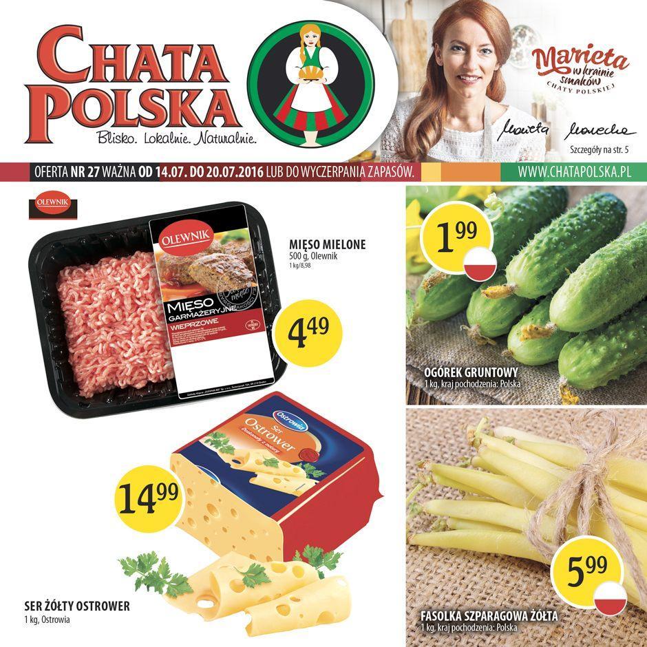 Gazetka promocyjna Chata Polska do 20/07/2016 str.0