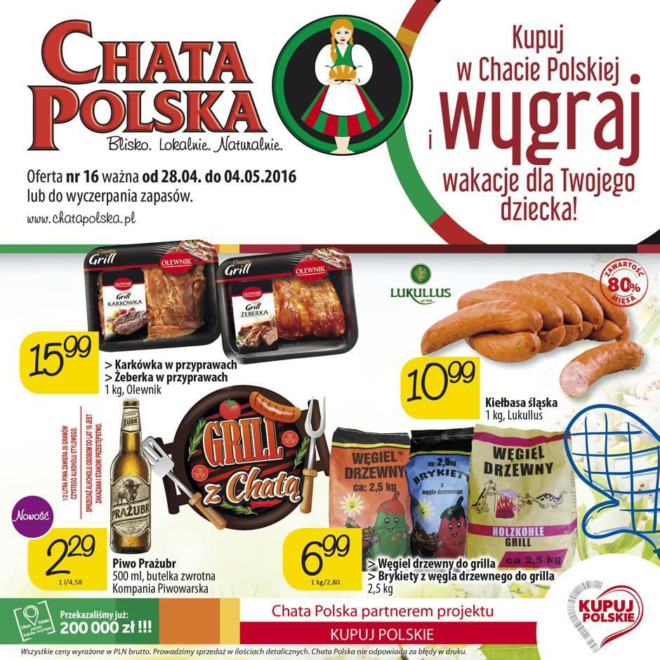 Gazetka promocyjna Chata Polska do 04/05/2016 str.0