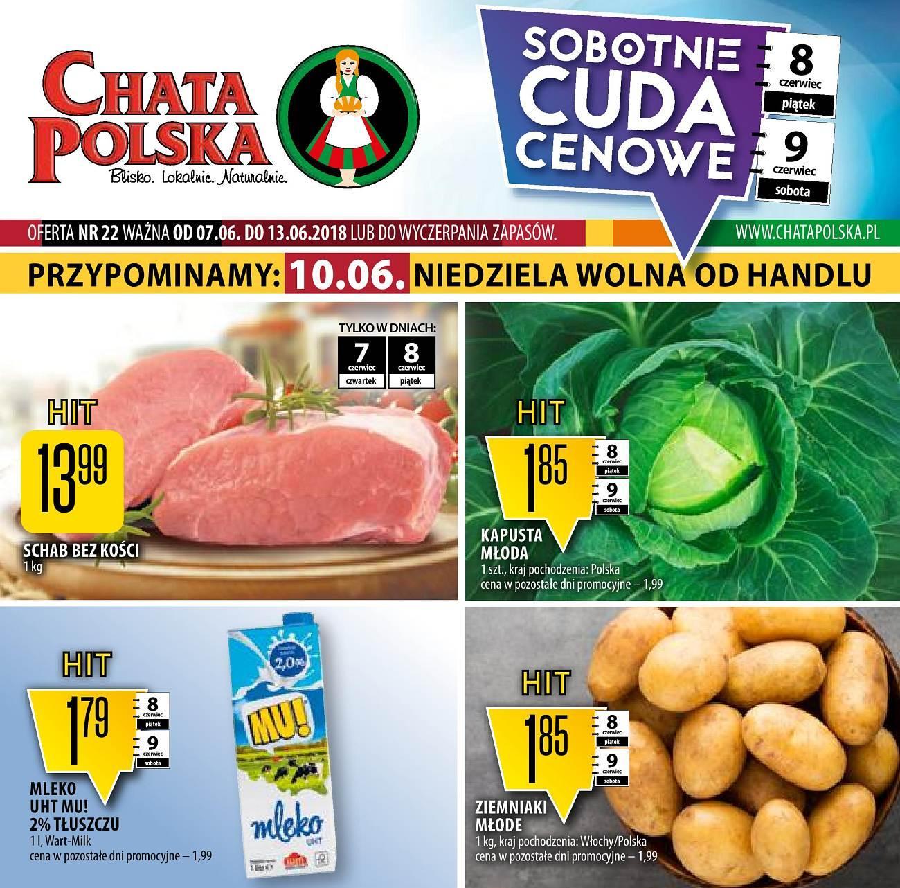 Gazetka promocyjna Chata Polska do 13/06/2018 str.0