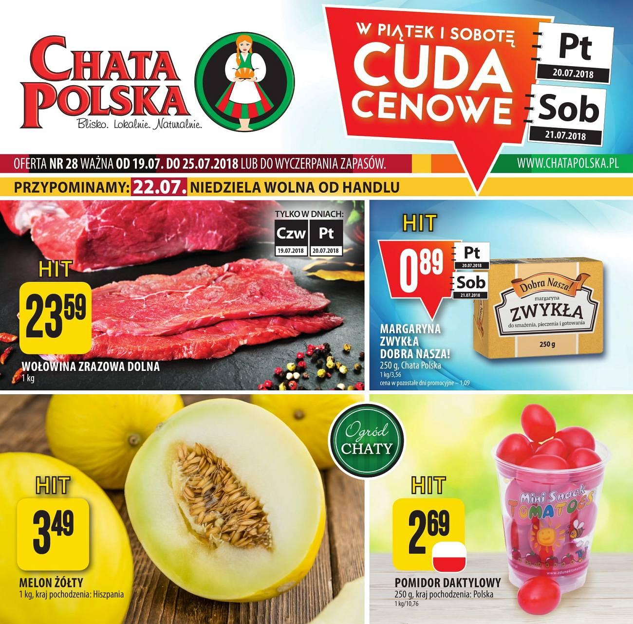 Gazetka promocyjna Chata Polska do 25/07/2018 str.1
