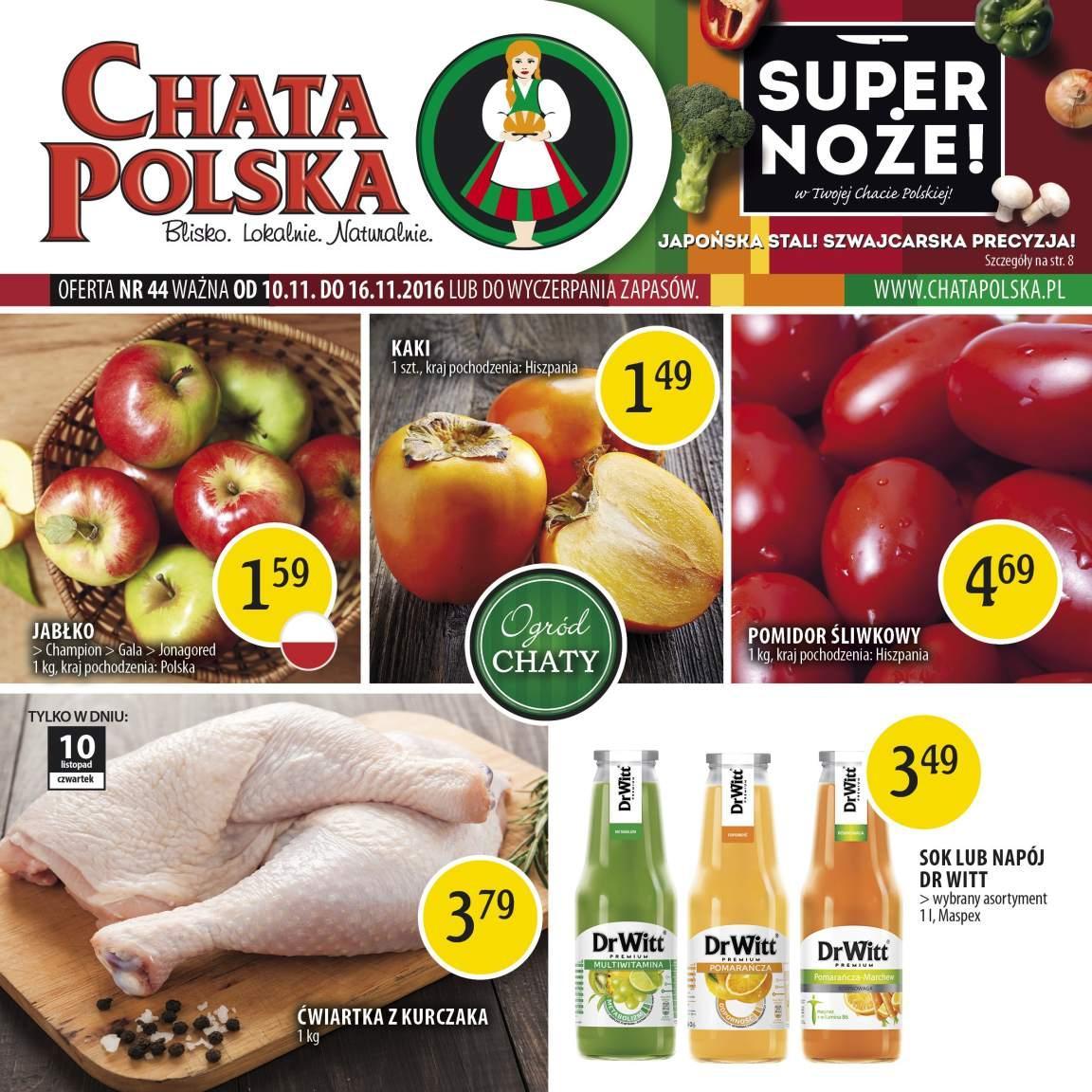 Gazetka promocyjna Chata Polska do 16/11/2016 str.0