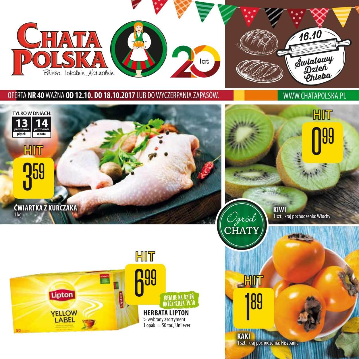 Gazetka promocyjna Chata Polska do 18/10/2017 str.0