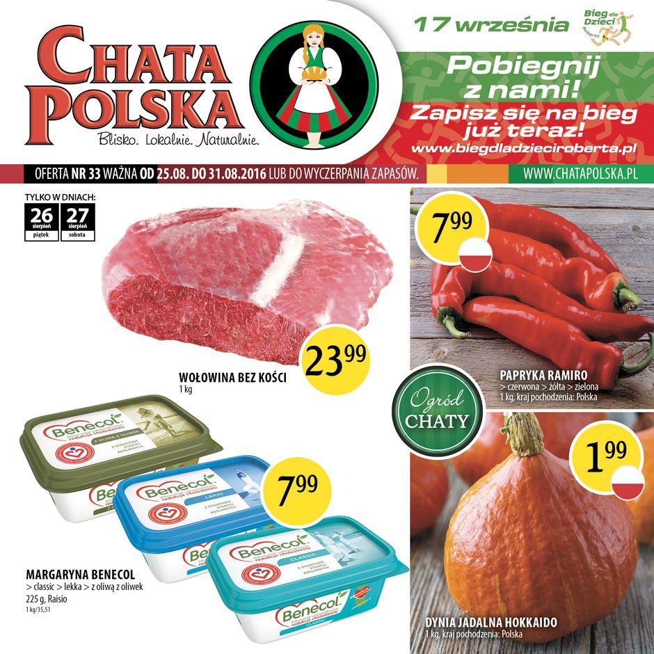 Gazetka promocyjna Chata Polska do 31/08/2016 str.0