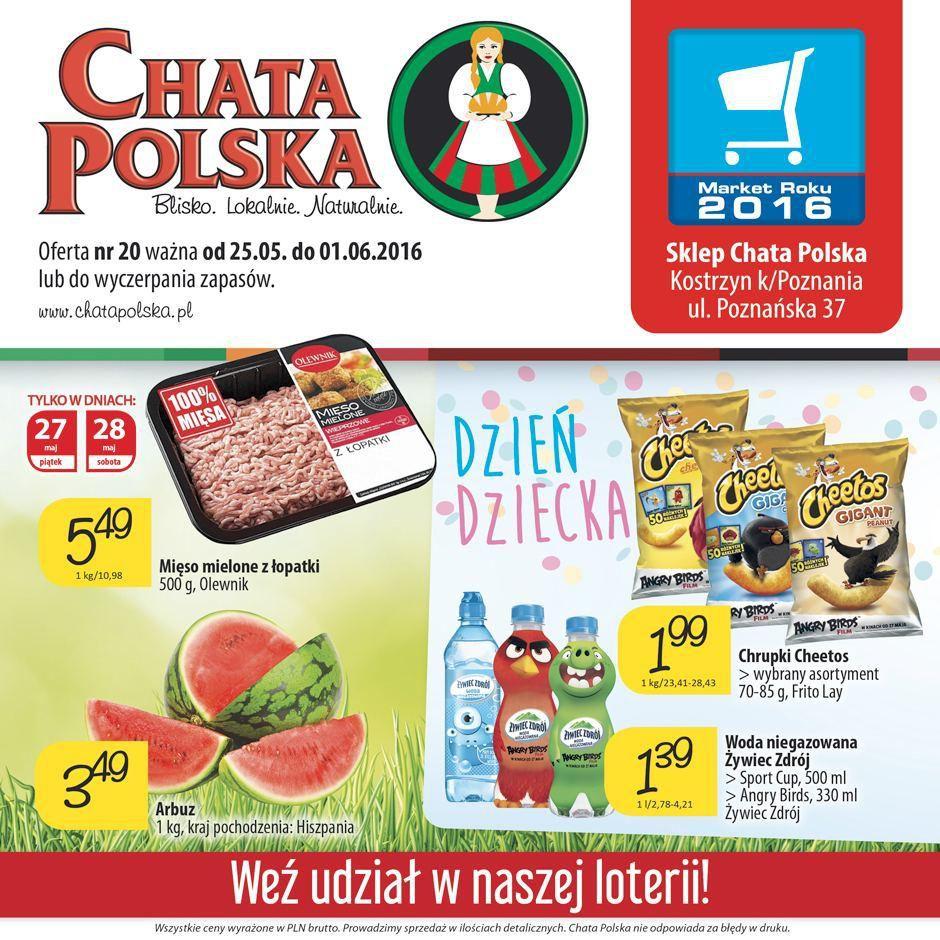 Gazetka promocyjna Chata Polska do 01/06/2016 str.0