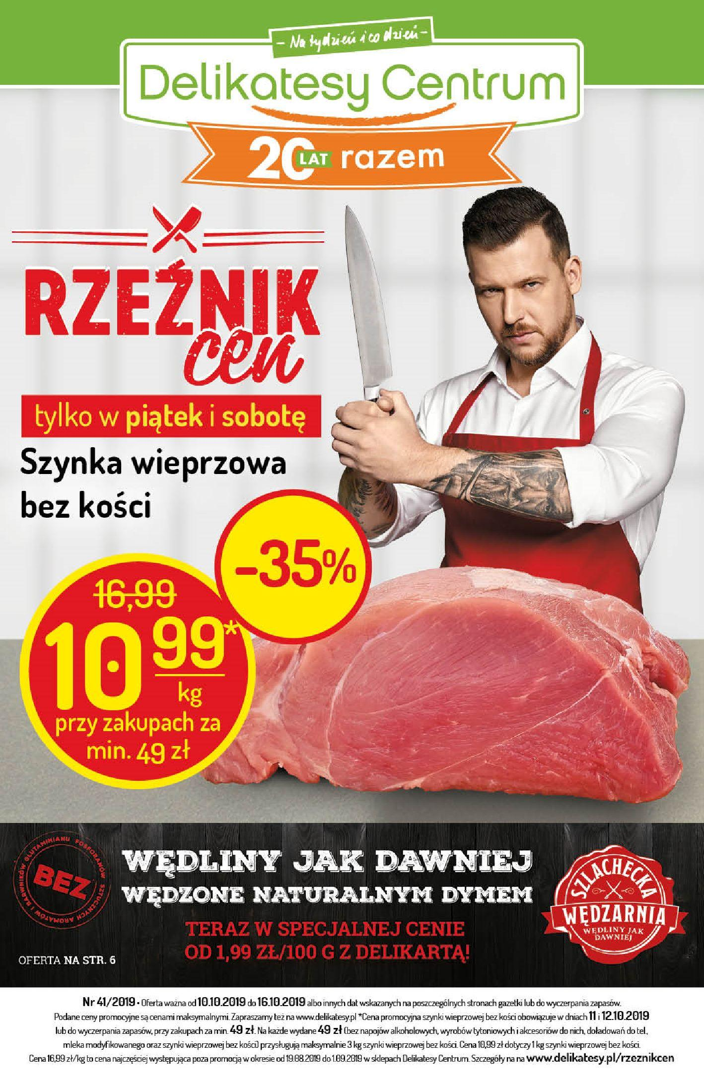 Gazetka promocyjna Delikatesy Centrum do 16/10/2019 str.1