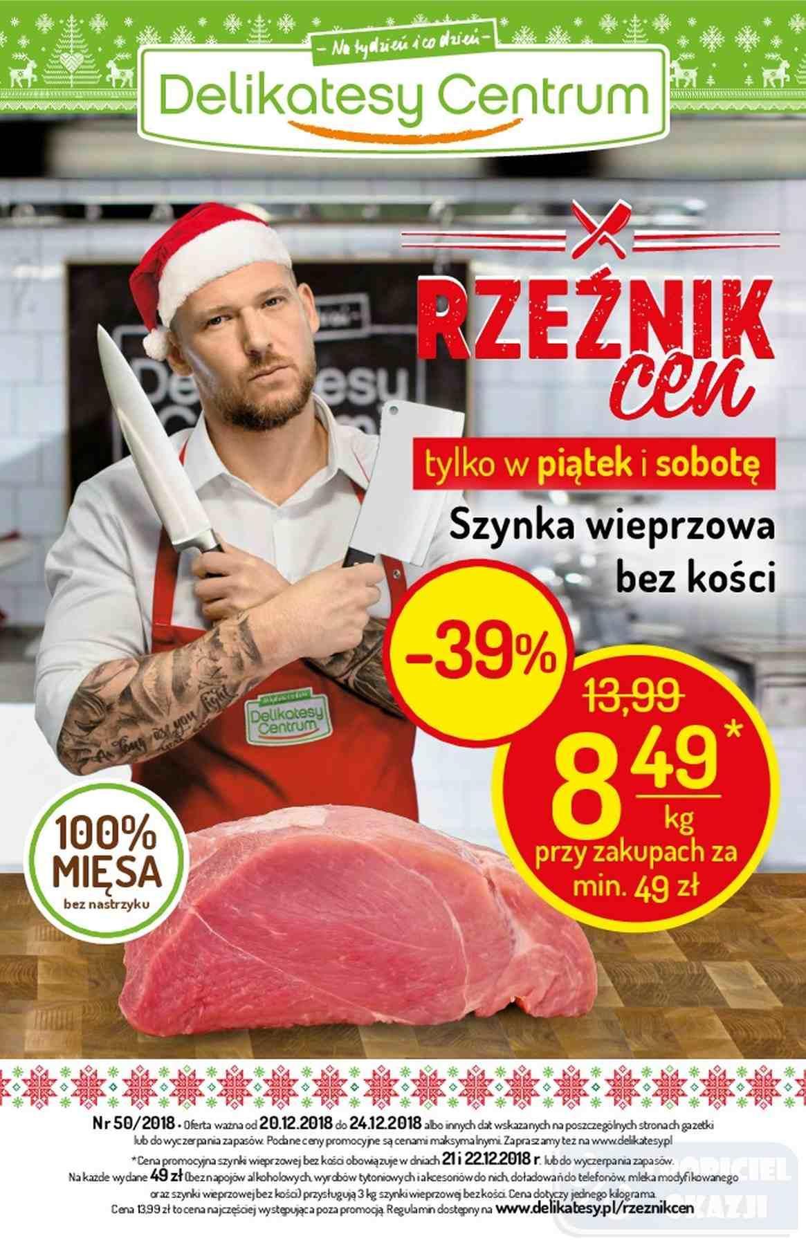 Gazetka promocyjna Delikatesy Centrum do 24/12/2018 str.0