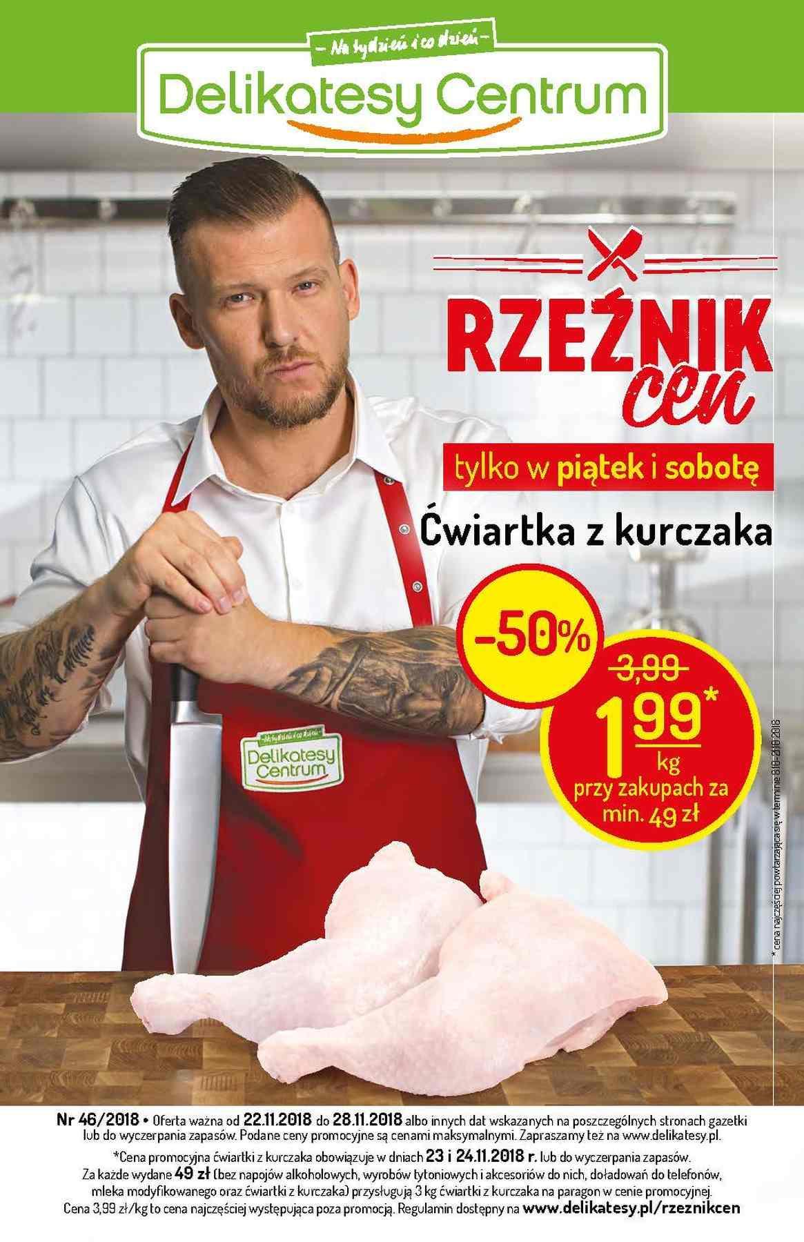Gazetka promocyjna Delikatesy Centrum do 28/11/2018 str.1