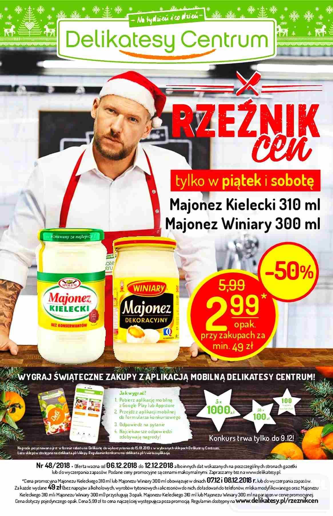 Gazetka promocyjna Delikatesy Centrum do 12/12/2018 str.0