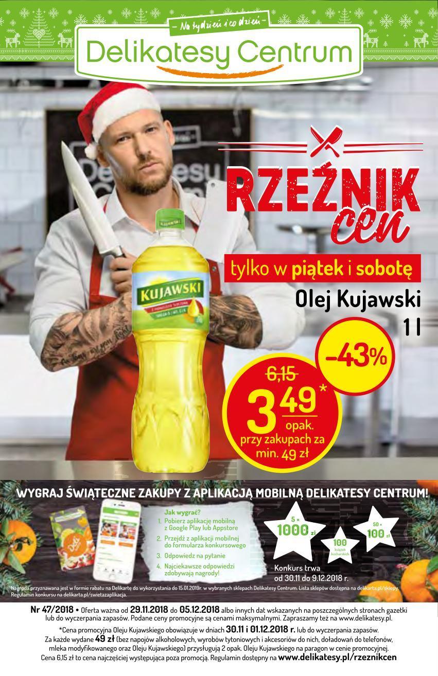 Gazetka promocyjna Delikatesy Centrum do 05/12/2018 str.0