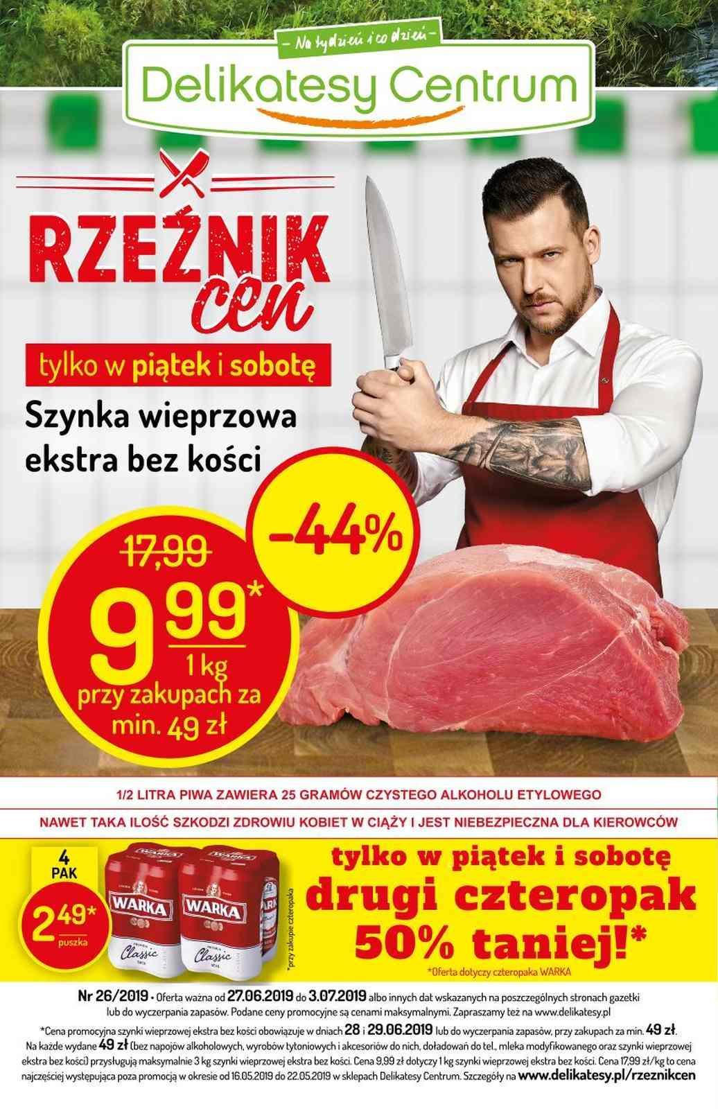 Gazetka promocyjna Delikatesy Centrum do 03/07/2019 str.1