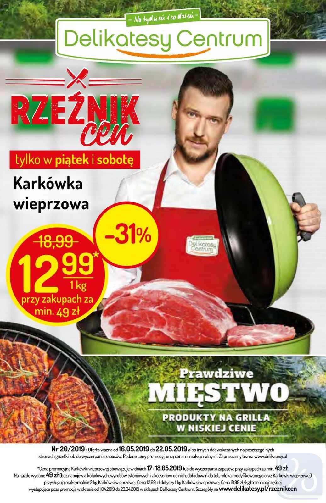 Gazetka promocyjna Delikatesy Centrum do 22/05/2019 str.1