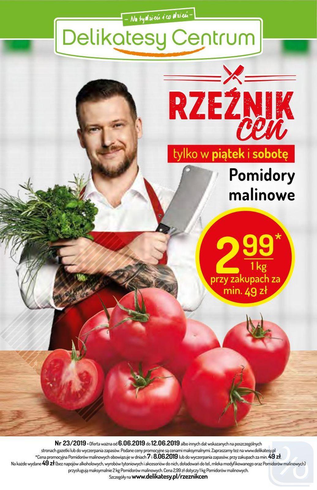 Gazetka promocyjna Delikatesy Centrum do 12/06/2019 str.1