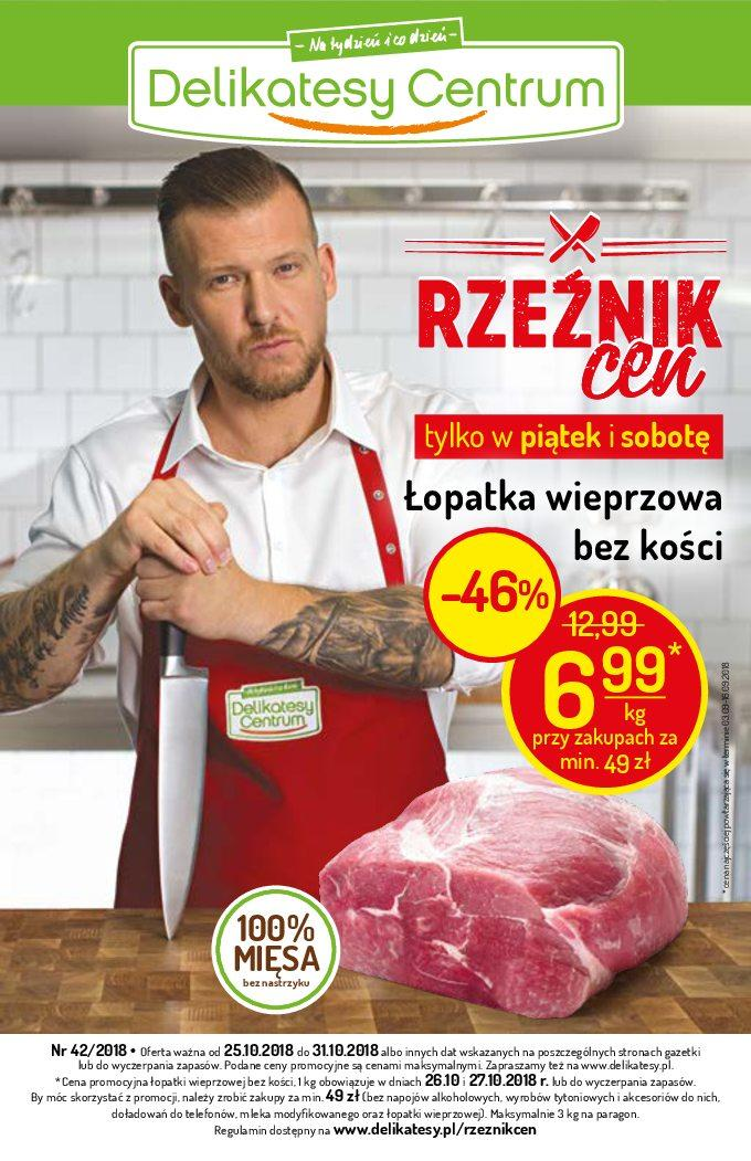 Gazetka promocyjna Delikatesy Centrum do 31/10/2018 str.0