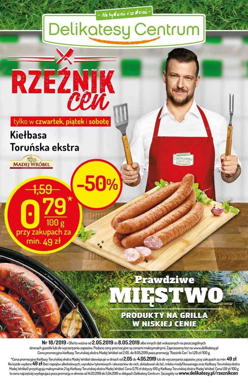 Gazetka promocyjna Delikatesy Centrum do 08/05/2019 str.0