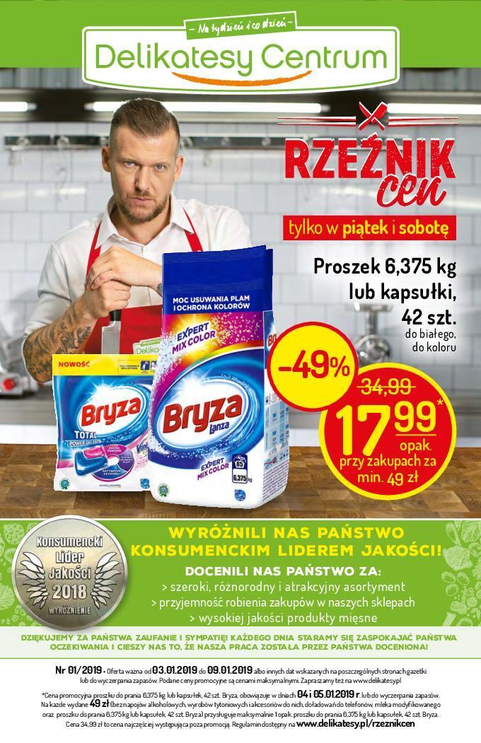 Gazetka promocyjna Delikatesy Centrum do 09/01/2019 str.0
