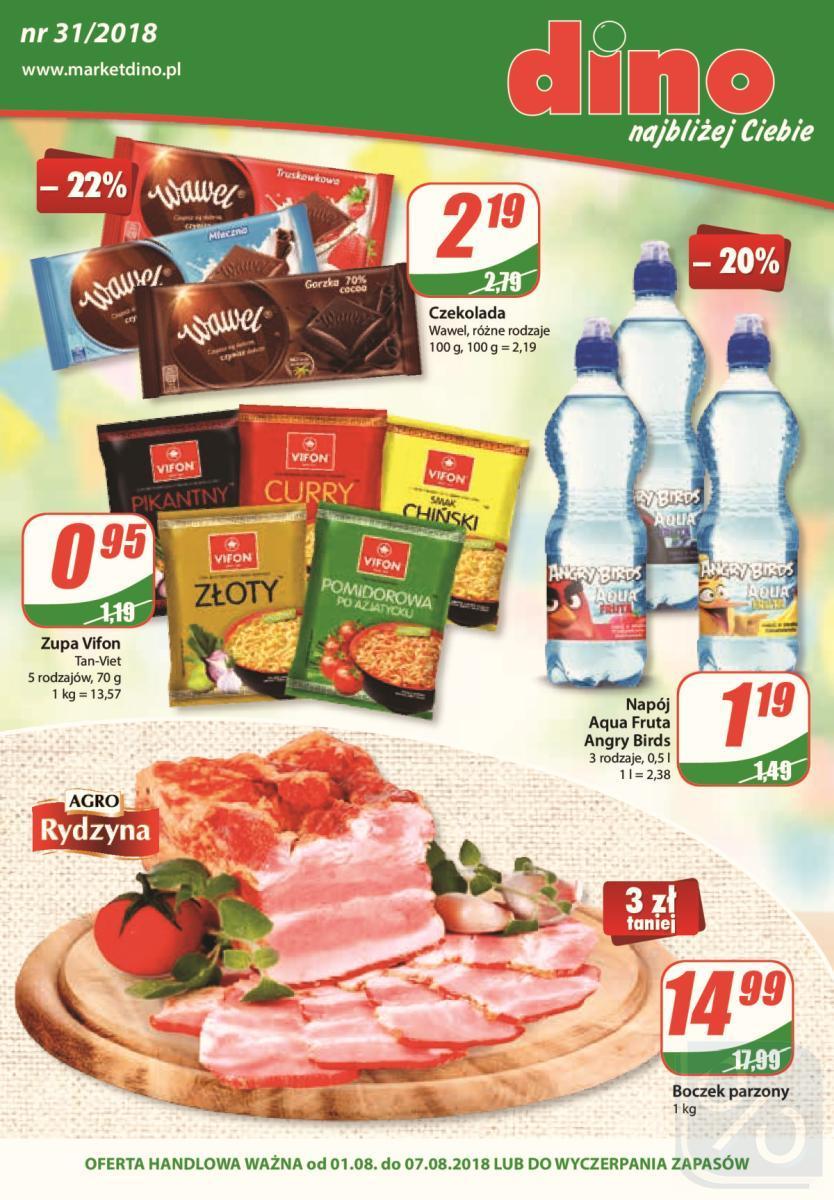 Gazetka promocyjna DINO do 07/08/2018 str.1