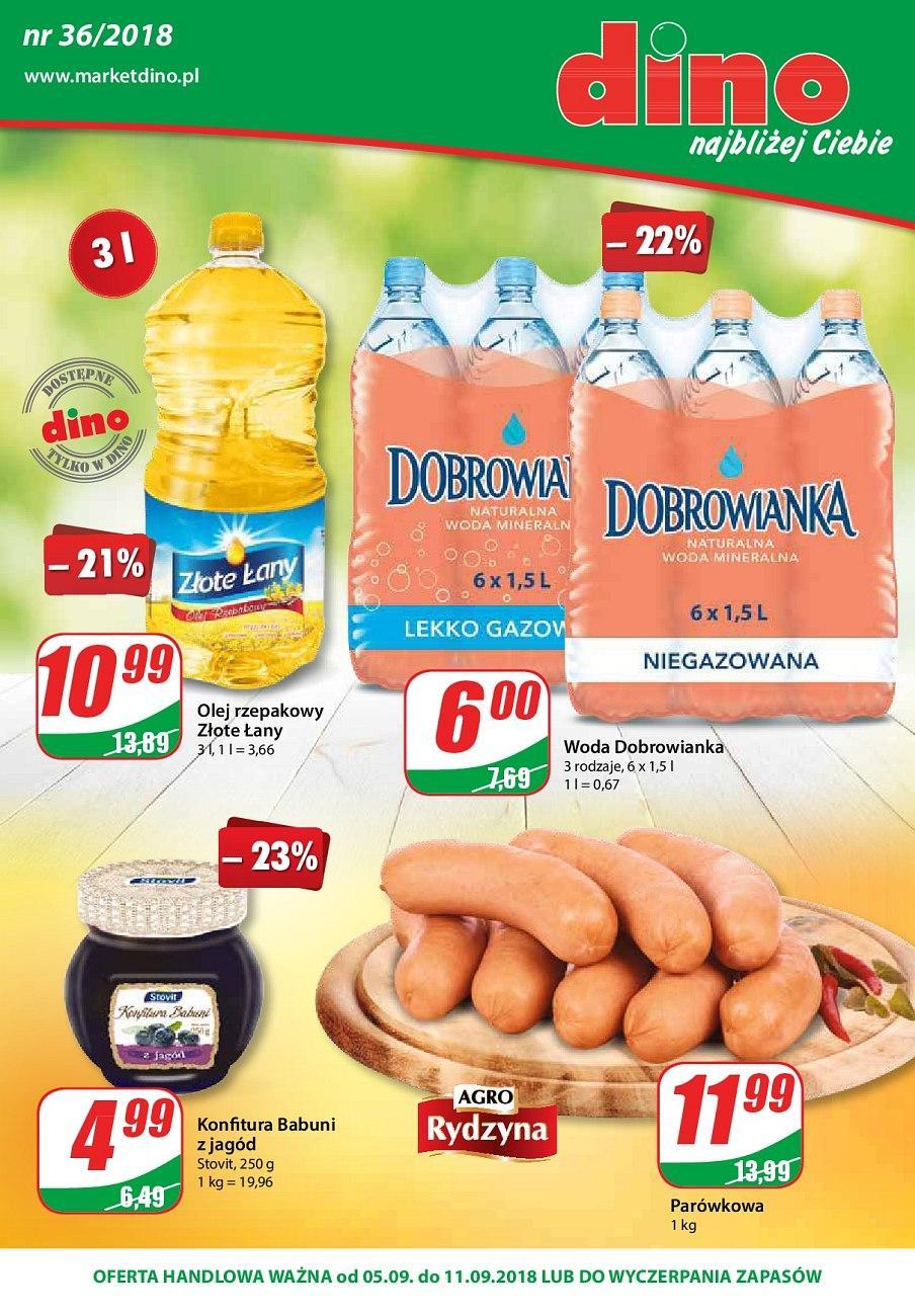 Gazetka promocyjna DINO do 11/09/2018 str.1