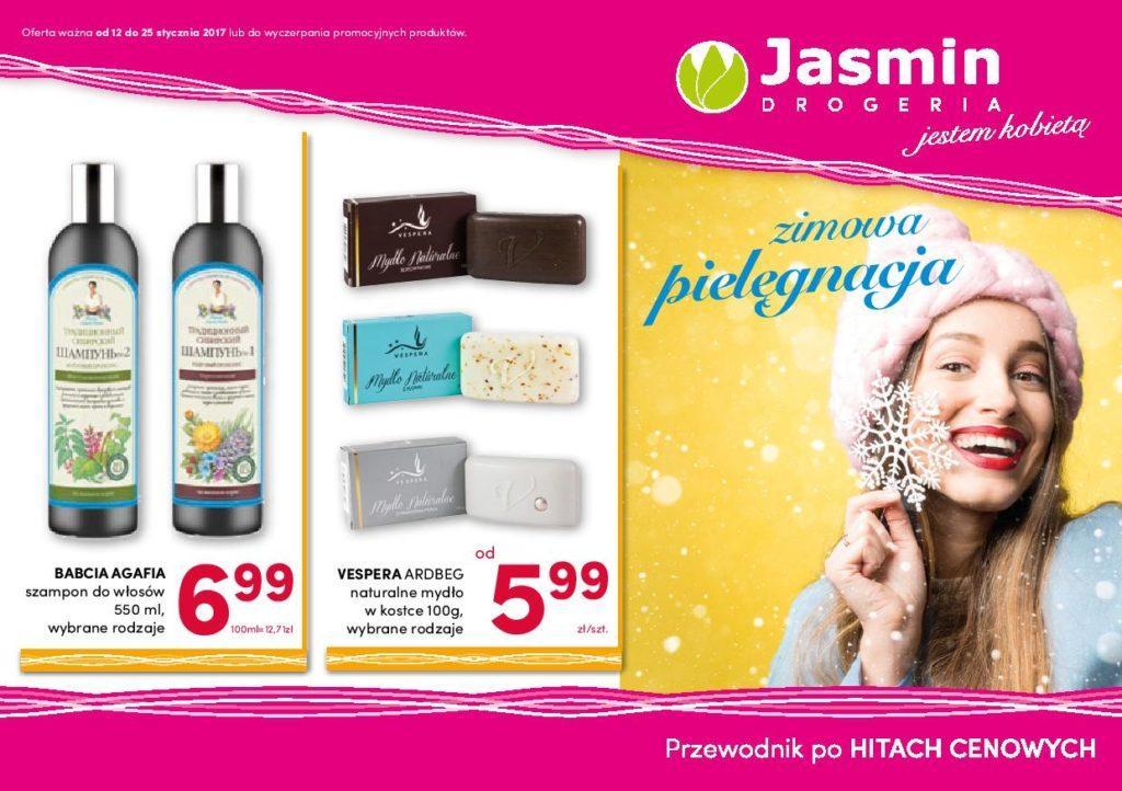 Gazetka promocyjna Drogerie Jaśmin do 25/01/2017 str.1