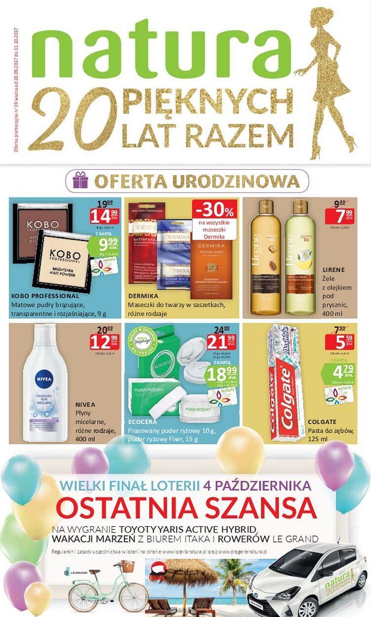 Gazetka promocyjna Drogerie Natura do 11/10/2017 str.0