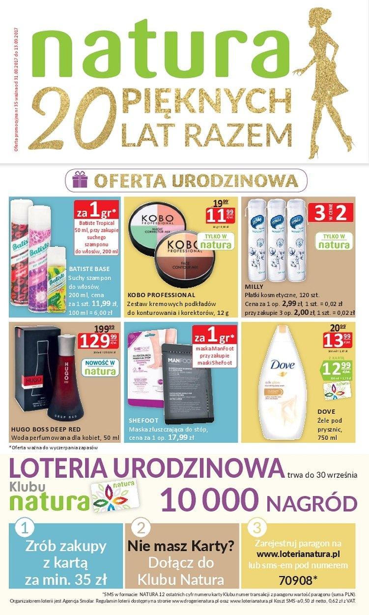 Gazetka promocyjna Drogerie Natura do 13/09/2017 str.0