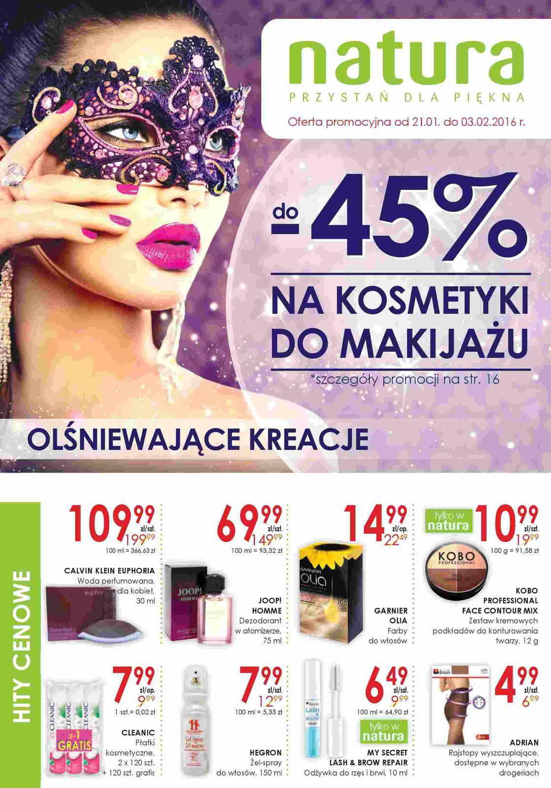 Gazetka promocyjna Drogerie Natura do 03/02/2016 str.0