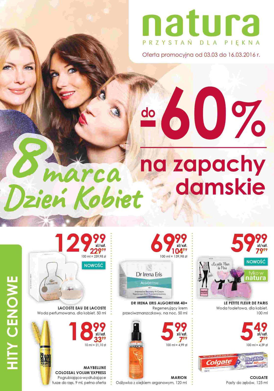 Gazetka promocyjna Drogerie Natura do 16/03/2016 str.0