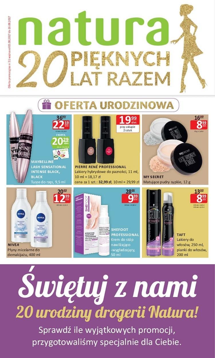 Gazetka promocyjna Drogerie Natura do 16/08/2017 str.0