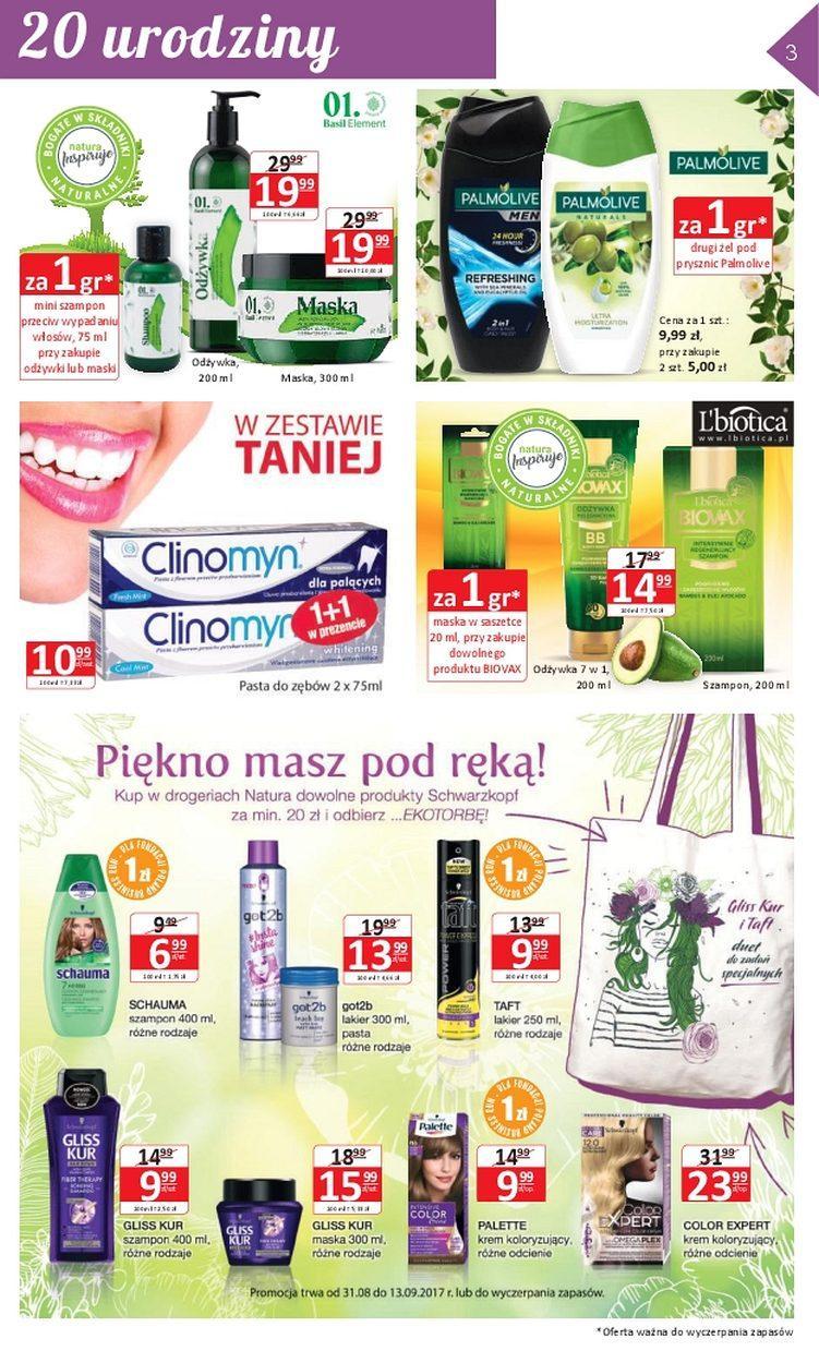 Gazetka promocyjna Drogerie Natura do 13/09/2017 str.2