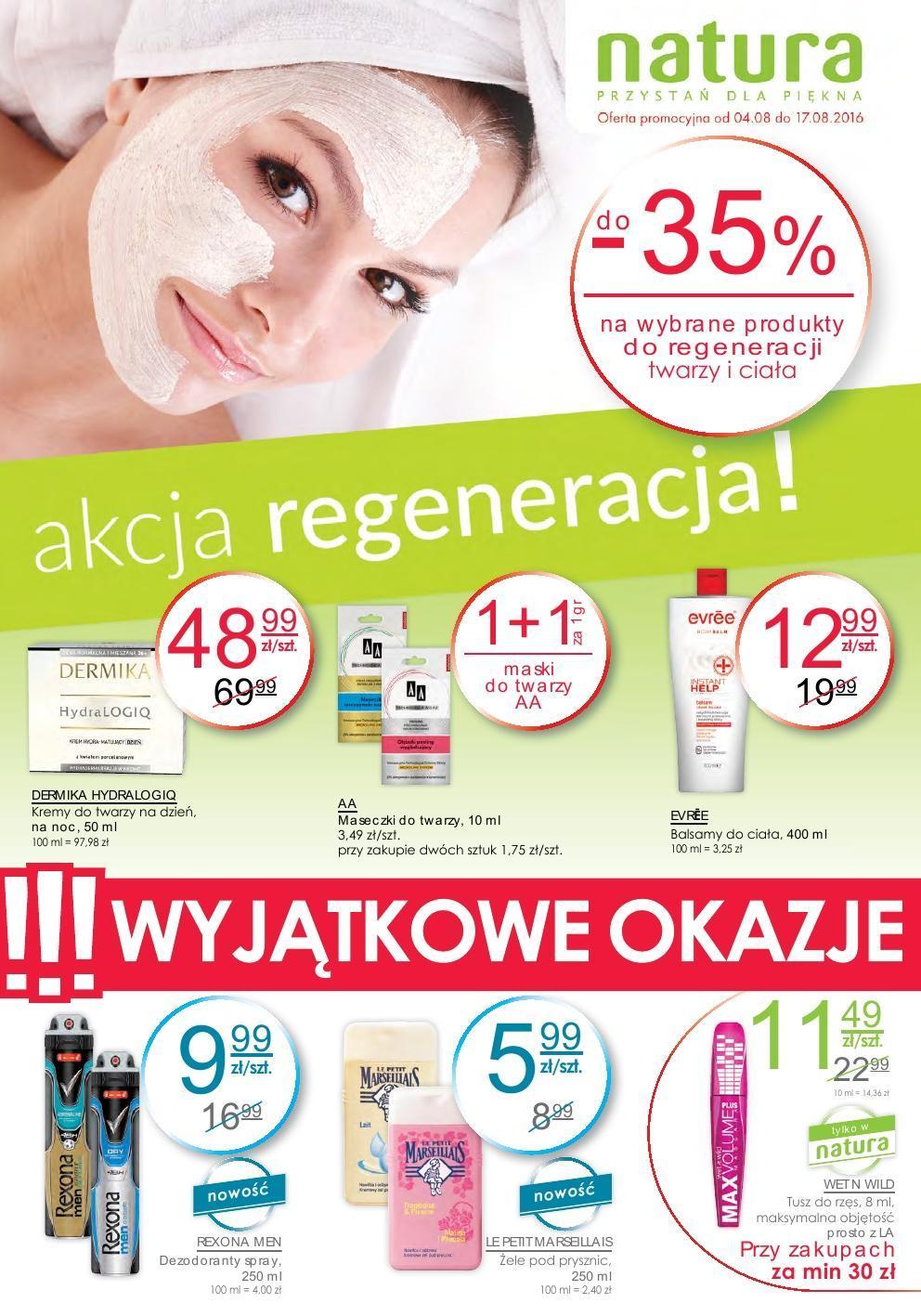Gazetka promocyjna Drogerie Natura do 17/08/2016 str.0